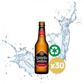 Estrella Galicia (Pack 30 x 0,20L) Cristal Retornable