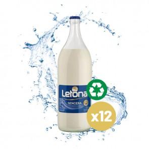 Leche Letona Entera (Caja 12 x 1L) Cristal Retornable