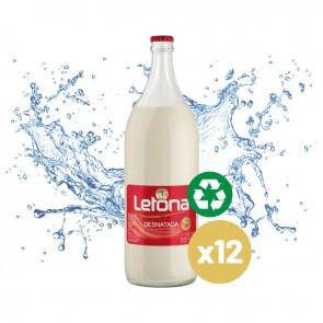 Leche Letona Desnatada (Caja 12 x 1L) Cristal Retornable